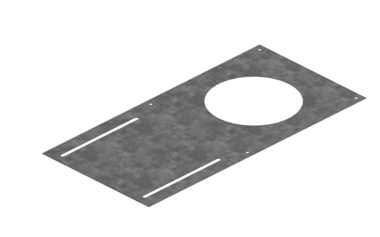"""Picture of 4"""" Mounting Plate (Black)"""