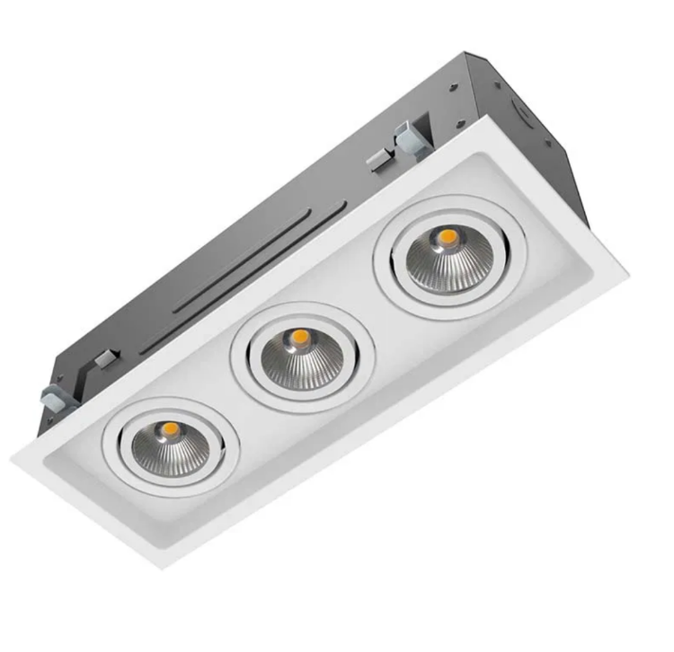 Picture of LED COB Three head downlight TRIMLESS