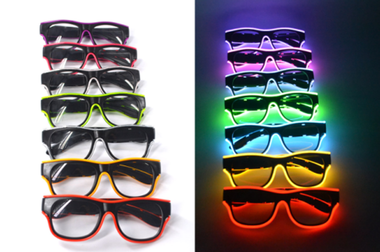 Picture of Wire Light Glasses Red